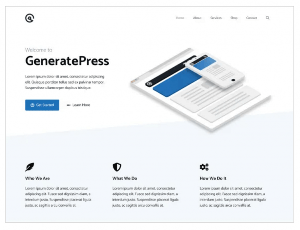 generate press wordpress theme