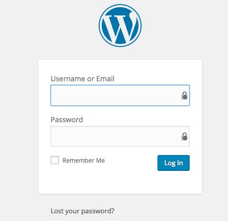 login for wordpress dashboard
