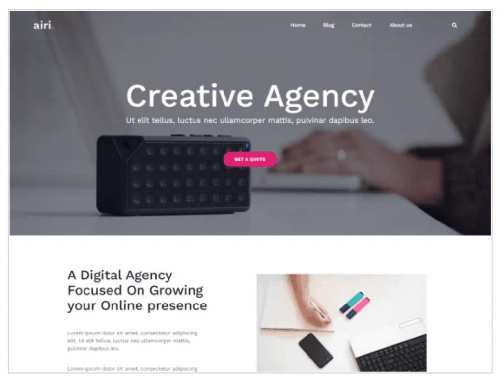 airi wordpress theme